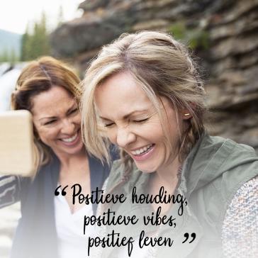Positieve houding, positieve vibes, positief leven