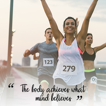 The body achieves what mind believes