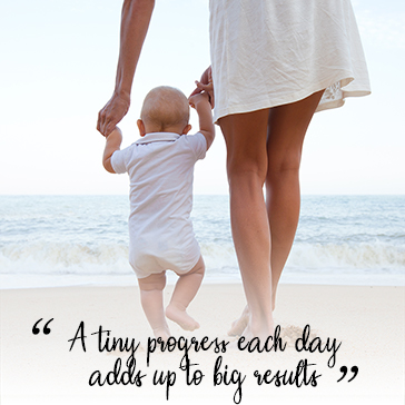 A tiny progess each day adds up to big results
