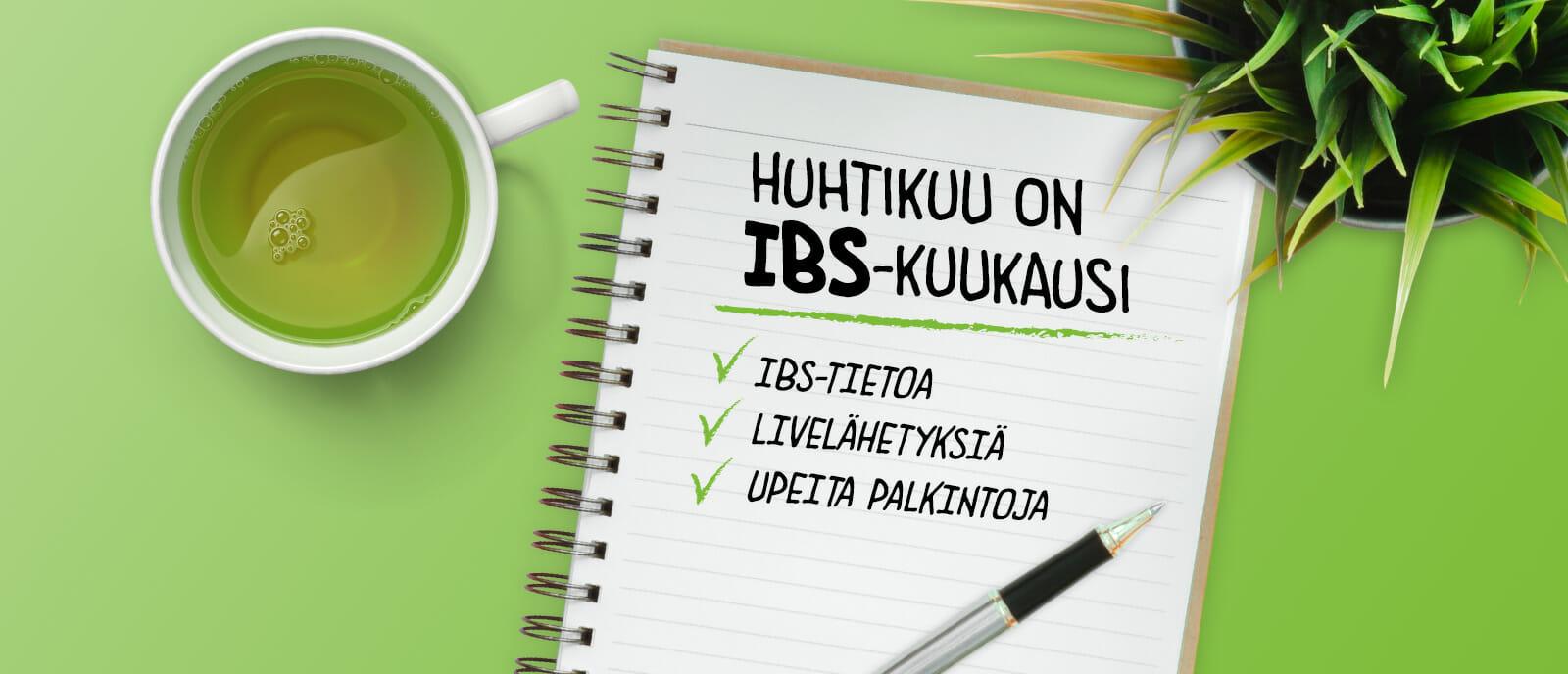 Huhtikuu on IBS-kuukausi